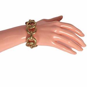 Banana Republic Gold Tone Round Link Bracelet